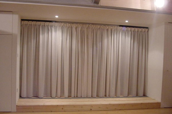 An image showing some simple modern curtains we made for a client
