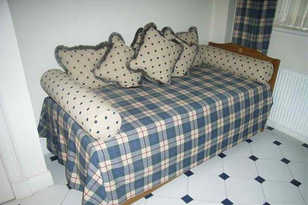 An image of a custom made sofa bed we made for a client